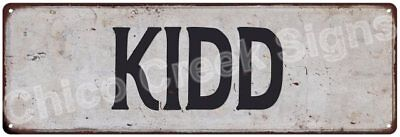 KIDD Vintage Look Rustic Metal Sign Shabby Chic Family Name 6186278