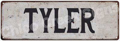 TYLER Vintage Look Rustic Metal Sign Shabby Chic Family Name 6186374
