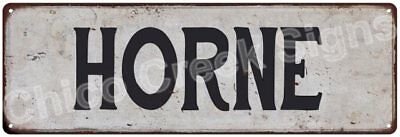 HORNE Vintage Look Rustic Metal Sign Shabby Chic Family Name 6186470