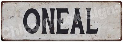 ONEAL Vintage Look Rustic Metal Sign Shabby Chic Family Name 6186422
