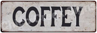 COFFEY Vintage Look Rustic Metal Sign Shabby Chic Family Name 6186712