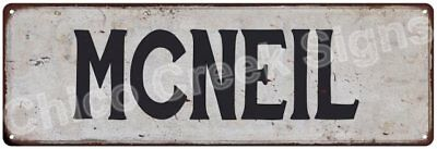 MCNEIL Vintage Look Rustic Metal Sign Shabby Chic Family Name 6186736