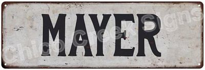 MAYER Vintage Look Rustic Metal Sign Shabby Chic Family Name 6186453