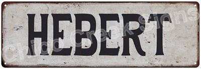HEBERT Vintage Look Rustic Metal Sign Shabby Chic Family Name 6186689