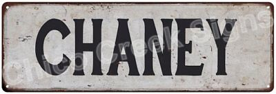 CHANEY Vintage Look Rustic Metal Sign Shabby Chic Family Name 6186744