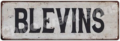 BLEVINS Vintage Look Rustic Metal Sign Shabby Chic Family Name 6186929
