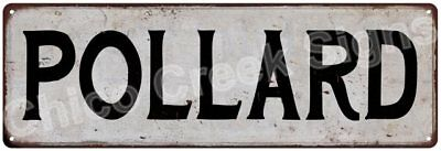 POLLARD Vintage Look Rustic Metal Sign Shabby Chic Family Name 6186947