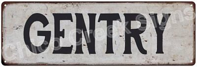 GENTRY Vintage Look Rustic Metal Sign Shabby Chic Family Name 6186679