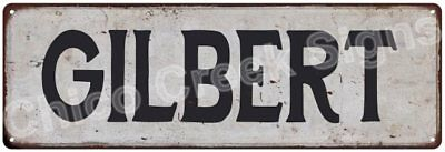 GILBERT Vintage Look Rustic Metal Sign Shabby Chic Family Name 6186799