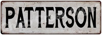 PATTERSON Vintage Look Rustic Metal Sign Shabby Chic Family Name 6187060