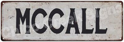 MCCALL Vintage Look Rustic Metal Sign Shabby Chic Family Name 6186685