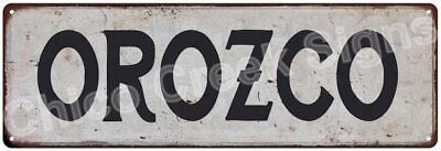 OROZCO Vintage Look Rustic Metal Sign Shabby Chic Family Name 6186668
