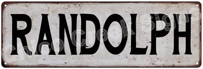RANDOLPH Vintage Look Rustic Metal Sign Shabby Chic Family Name 6187037