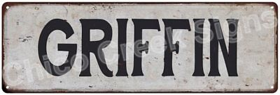 GRIFFIN Vintage Look Rustic Metal Sign Shabby Chic Family Name 6186771