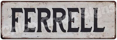 FERRELL Vintage Look Rustic Metal Sign Shabby Chic Family Name 6186954