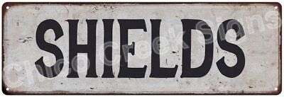 SHIELDS Vintage Look Rustic Metal Sign Shabby Chic Family Name 6186884