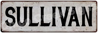 SULLIVAN Vintage Look Rustic Metal Sign Shabby Chic Family Name 6186967
