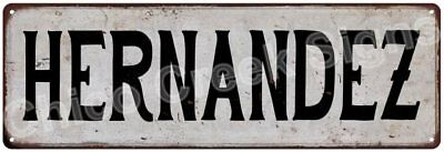HERNANDEZ Vintage Look Rustic Metal Sign Shabby Chic Family Name 6187057