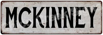 MCKINNEY Vintage Look Rustic Metal Sign Shabby Chic Family Name 6186998