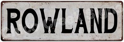 ROWLAND Vintage Look Rustic Metal Sign Shabby Chic Family Name 6186945