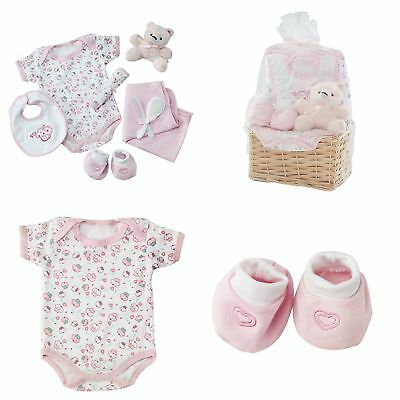 Baby Girl Essentials Gift Basket Layette Set For Infant Up To 0-6 Months Pink