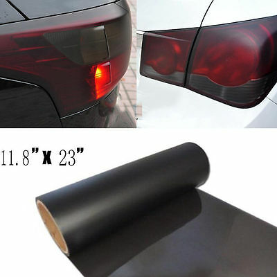 "1p of11.8x23""Black-Out Smoked Dark Tail Lights Vinyl Wrapping Sheet Film Sticker"