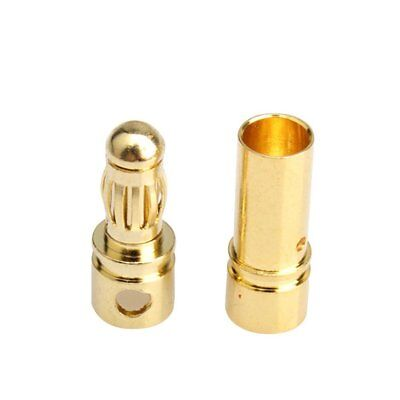 20 Pair 3.5mm Gold Plated Ball Banana Connectors RC Battery Gold C5W1