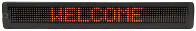 7 x 80 ROSSO LED IN MOVIMENTO MESSAGGIO Display MKII