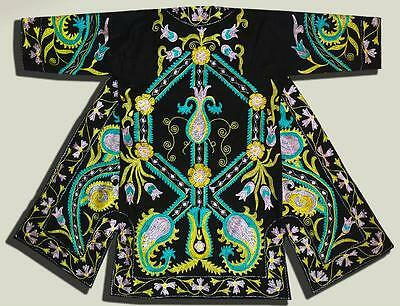 Stunning Uzbek Silk Embroidered Robe Chapan With Ottoman Motifs N135