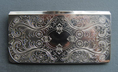 Hansaware Solid Sterling Sliver Checkbook Cover Made in Germany 4080/SS 85