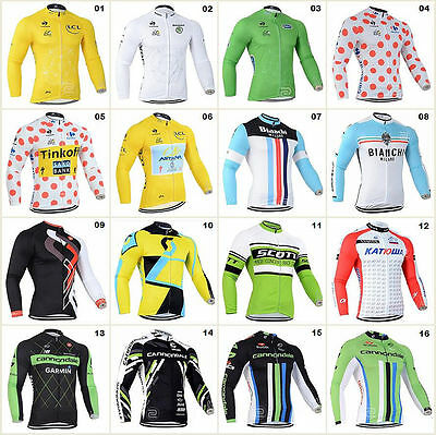 HOT Style Jerseys Long Sleeve Tops Bicycle Team Riding Shirt Road Bike Clothing