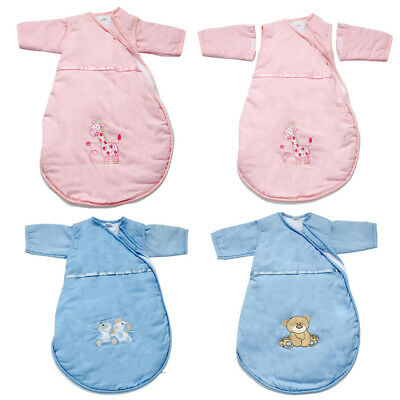 Baby Sleeping Bag Newborn Sleepsack Removable Sleeves Cotton Cute Warm 0-6M