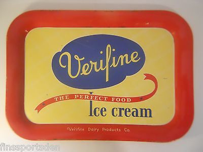Vintage VERIFINE ICE CREAM Advertising Tray ~ Very Rare Hard-To-Find Tray