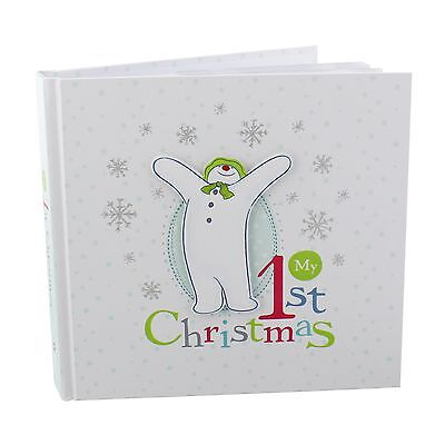 My1st Christmas Photo Album Snowman & The Snow Dog  Engraved FOC SM113