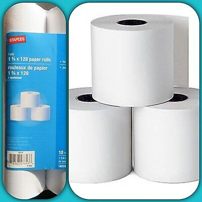 {📠Staples}Single-ply Bond Paper 10 Roll 1 1/2 Inches (38mm) X 128 Feet (39m)📠