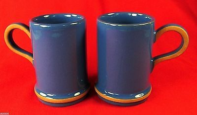 Molde Tall Mugs Blue & Terra Cotta Kari Trestakk Norway Set of 2