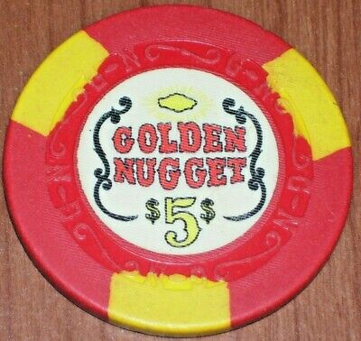 $5 Ltd 4Th Of July 1995 Gaming Chip From The Golden Nugget Casino Laughlin Nv