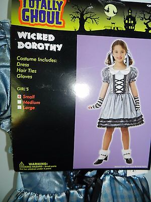 Child Girl Totally Ghoul Wicked Dorothy Wizard of Oz Halloween Costume Sz Small