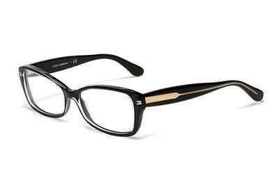 e36c5ab62b1b Authentic New Dolce   Gabbana Eyeglasses DG 3176 2776 Crystal Black Frames  54MM