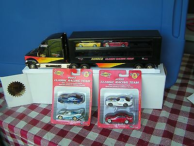 2003 GOLD Sunoco Racing Team Hauler w/2 cars---series 10---serial # 1856 +++