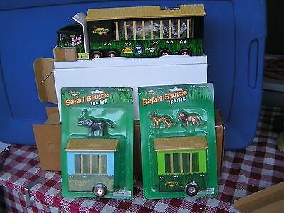 2001 GOLD Sunoco Safari Shuttle Trailer w/3 animals-series 8-serial # 3089 +++