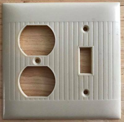 1 Vintage Art Deco Ribbed Wall Plates outlet switch combo Cover
