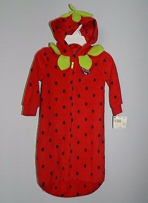 NEW Holiday Editions Infant (OSFM) Strawberry Halloween Costume Fruit Sack