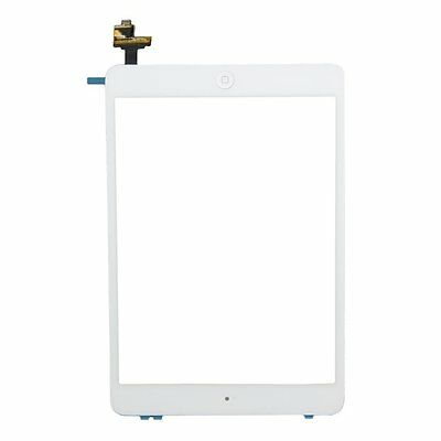 For iPad Mini 1/ 2 A1489 A1432 Touch Screen Glass Digitizer IC Home Button White