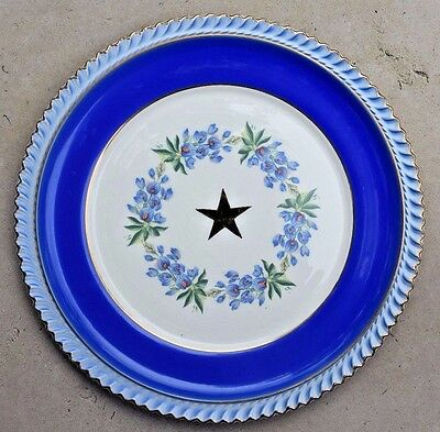 DAR Vintage TEXAS SOCIETY DAUGHTERS OF THE AMERICAN REVOLUTION BLUEBONNET PLATE