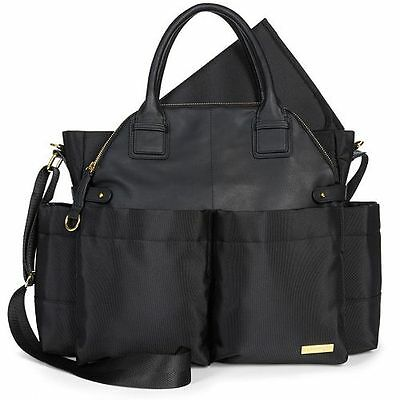 Skip Hop Chelsea Downtown Chic Baby Diaper Satchel ~~ Black ~~ Brand New !!!