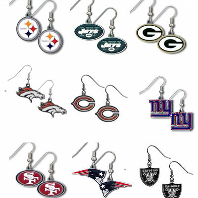 NFL Logo Dangle Earrings Pick Your Team