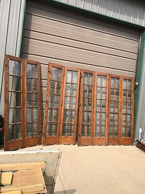 "An 74 Two Matching Sets Antique Oak Beveled Virginia 36"" X 84 X 4 Doors"