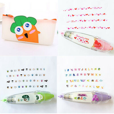 3 Cute Patterns Novelty Decorative Correction Tape DIY Gift Card / Craft Drawing