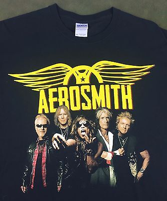 Mens 2XL Aerosmith 2012-2014 Global Warming Tour Concert Tour Music Band T-Shirt